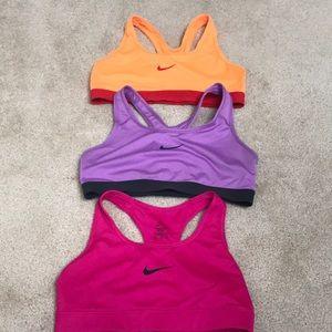 3 Nike Sport Bras